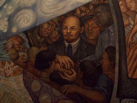 Detail of Lenin (1934)  Diego Rivera, Palacio de Bellas Artes de la Ciudad de México